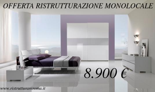 Offerta ristrutturazione monolocale roma ristrutturare for Mobili low cost roma